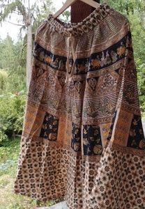 Vintage Linen Hippie Skirt